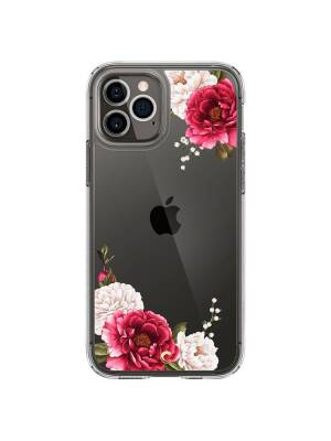 Husa Apple iPhone 12 Pro Max, Spigen Cyrill Cecile, Floral, Rosu