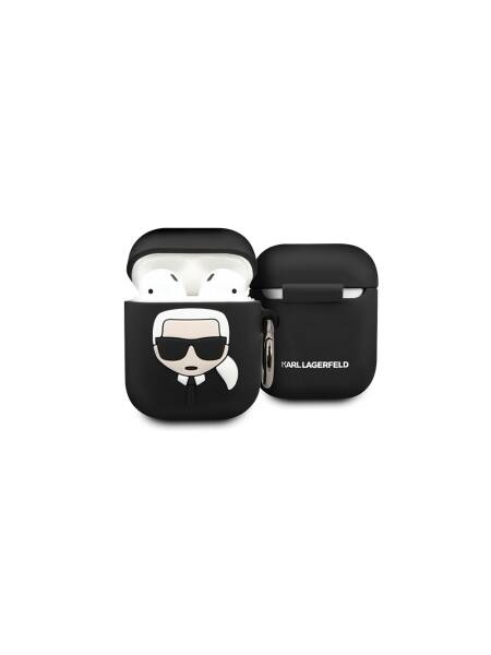 Husa Apple Airpods, Karl Lagerfeld, Silicon Iconic, Negru