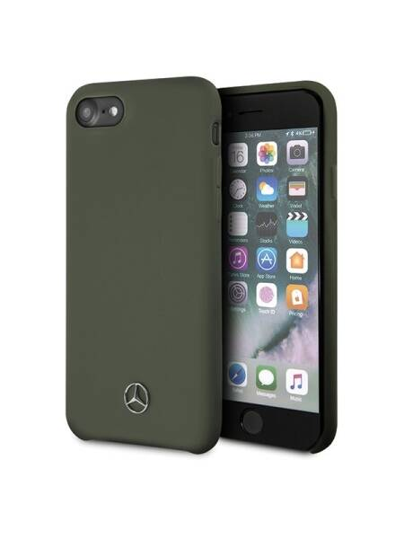 Husa Apple iPhone SE 2020, Mercedes, Silicon, Midnight Green
